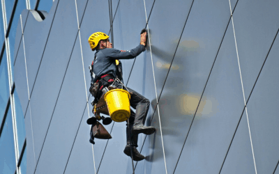 Why use Abseiling for Window Cleaning & Building Maintenance
